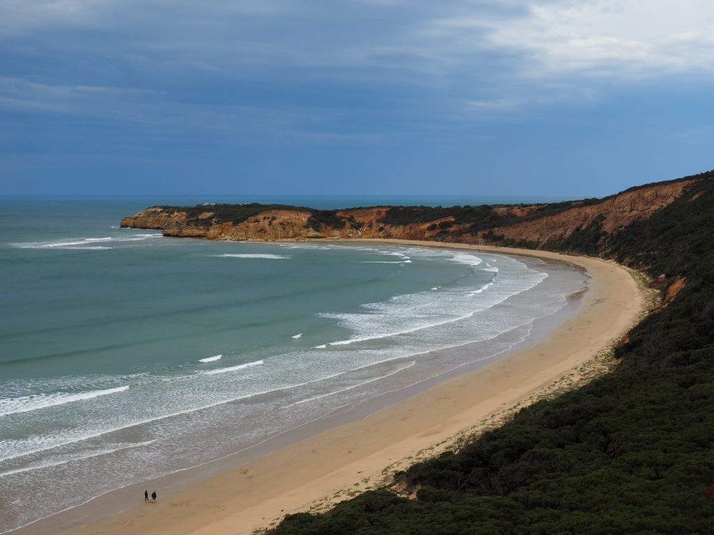 Point Addis Beach is a great place to stop for a long beach walk on the Great Ocean Road Drive