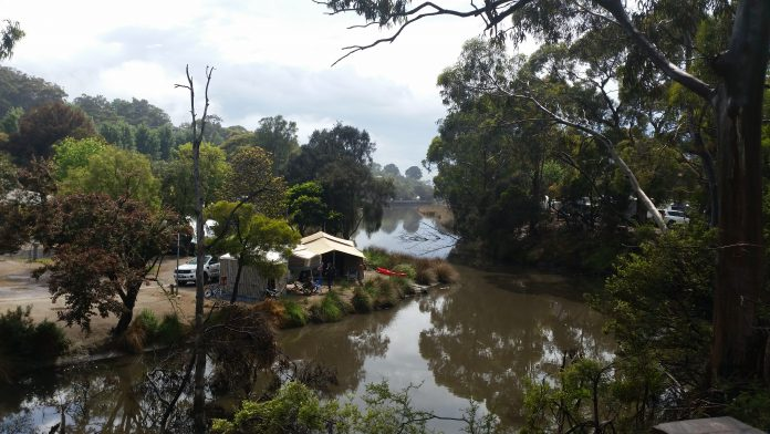 The view of the river from the visitors centre