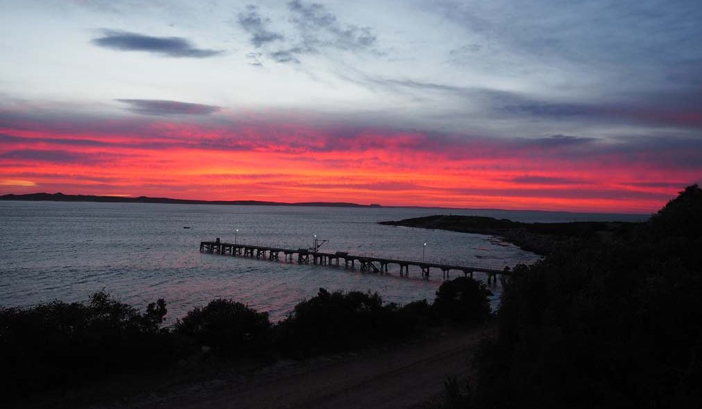Sunrise of the jetty/pier at Vivonne Bay on Kangaroo Island