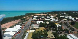 The view of Broome from the plane window.