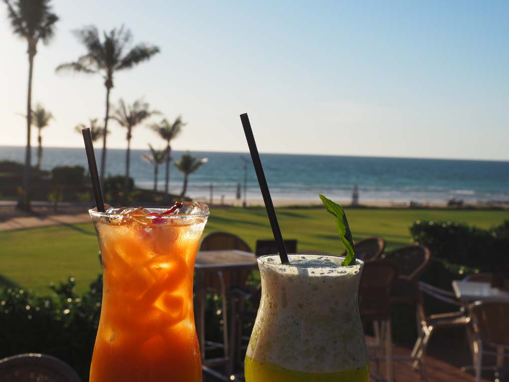 Afternoon cocktails with a view at the Sunset Bar and Grill by See Something New