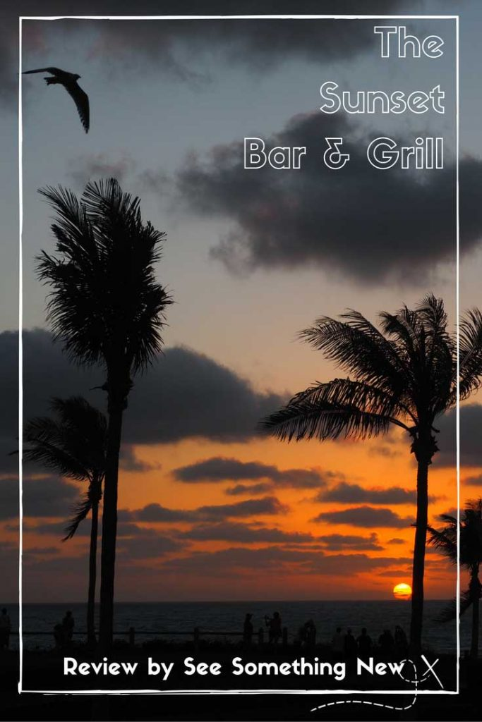 The spectacular view of sunset at Cable Beach from the table at the Sunset Bar & Grill