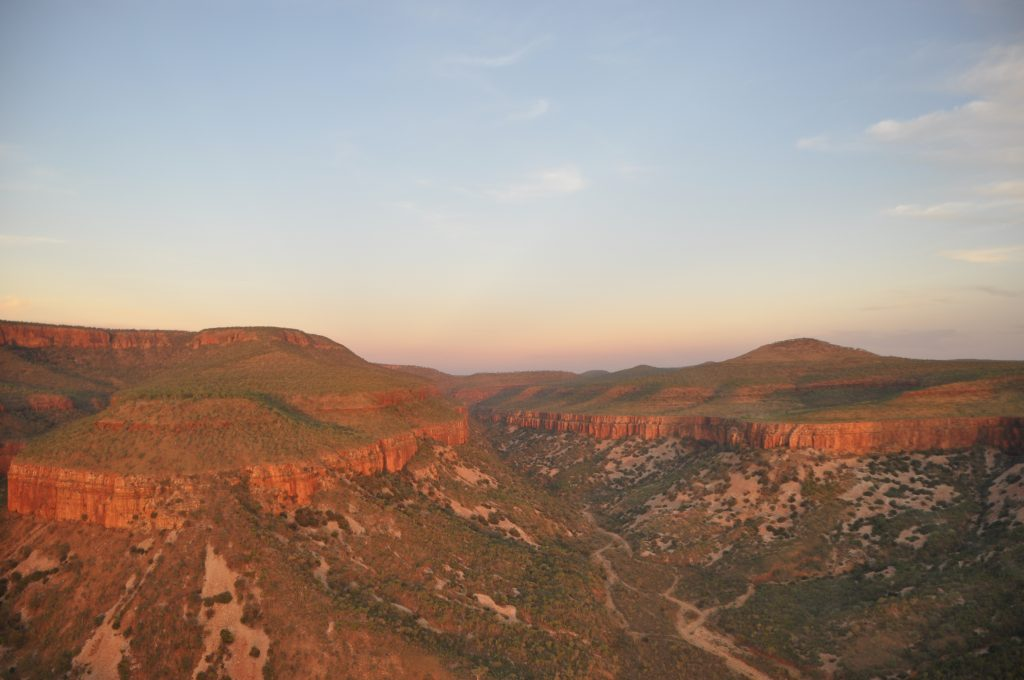 Viewing the Cockburn Ranges from a chopper at sunset was a special experience I will never forget while travelling the Gibb River Road
