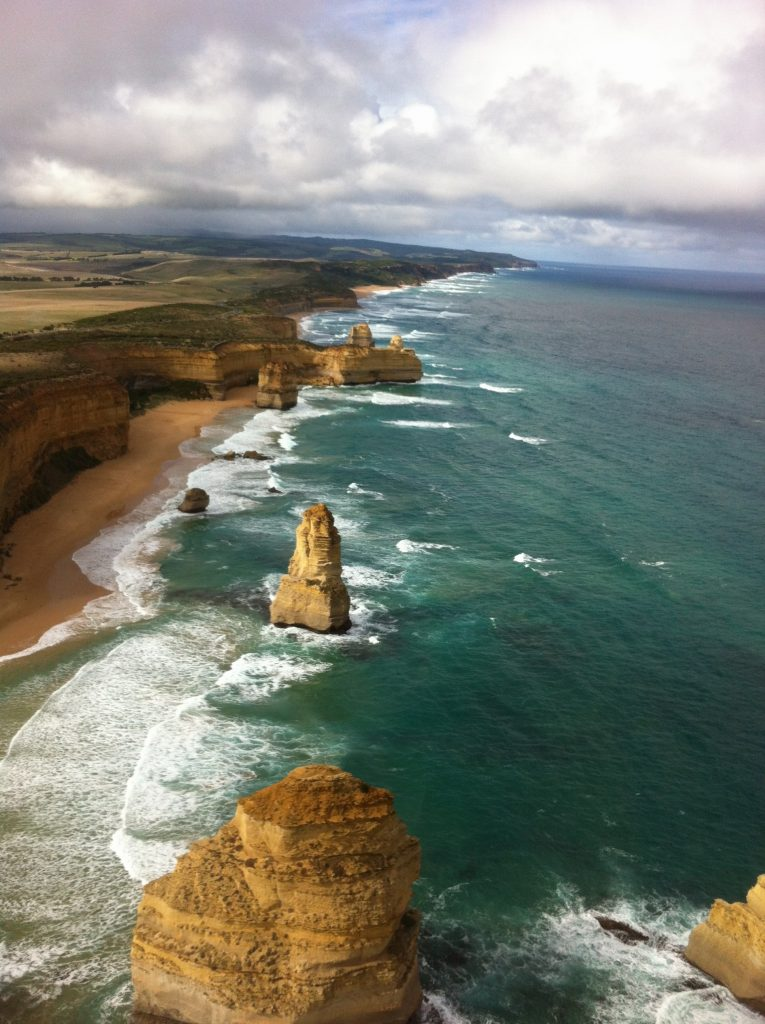 A drive along the rugged old coastline of the Great Ocean Road is a truly spectacular experience and from the air its just as magnificent!