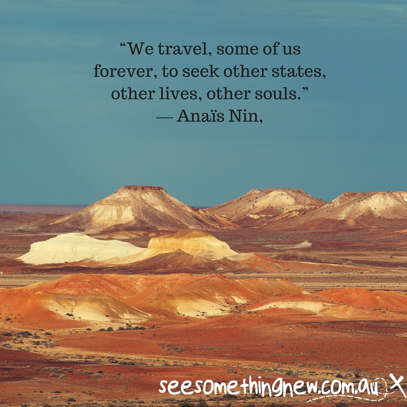 """We travel, some of us forever, to seek other states, other lives, other souls."" ― Anaïs Nin,"