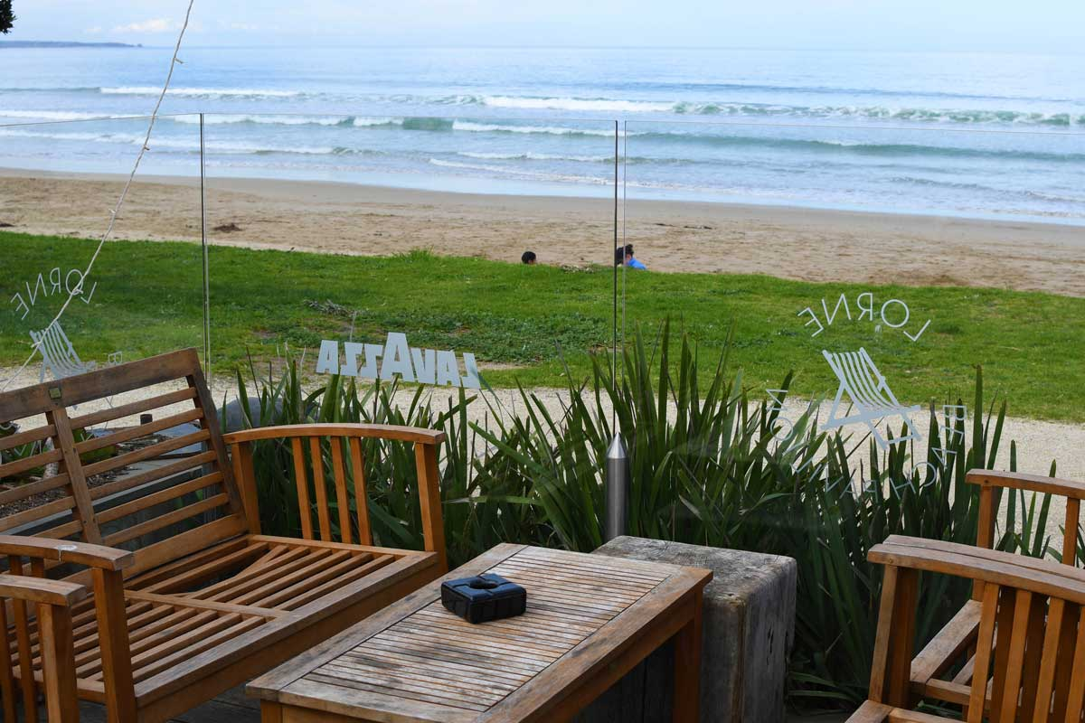The Beach Pavilion in Lorne is one of the Great Ocean Roads best restaurants with a view