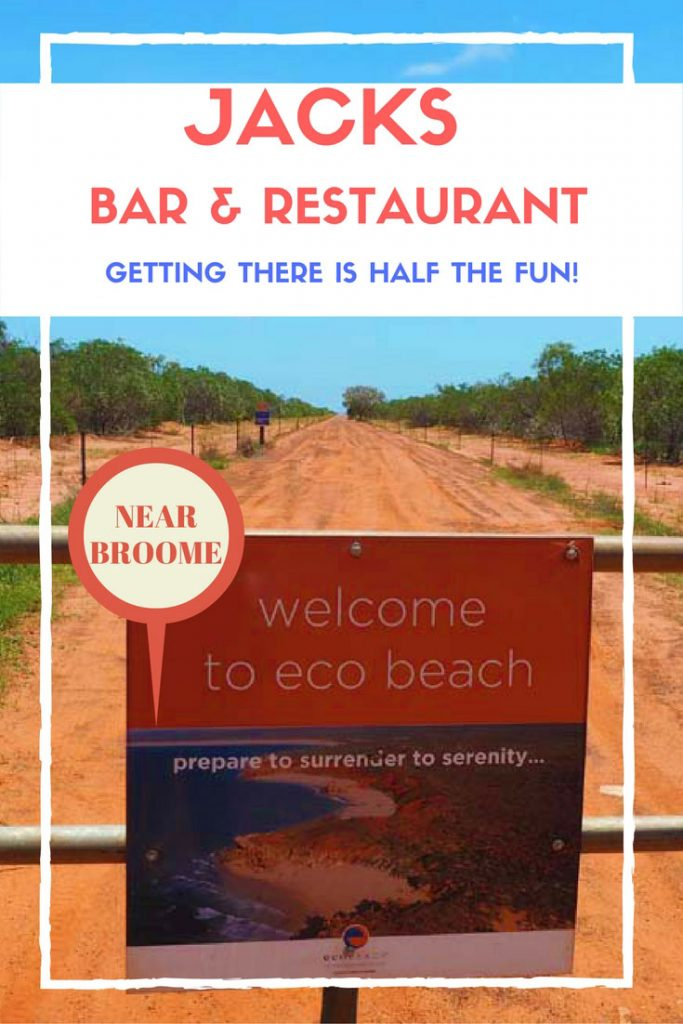 Jacks Bar and Restaurant can be found at Eco Beach Resort, an easy day trip from Broome. It boasts gorgeous views of the creamy white sand and aqua water.