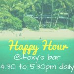 happy hour time at foxy's bar fitzroy island is 4-5.30 pm daily